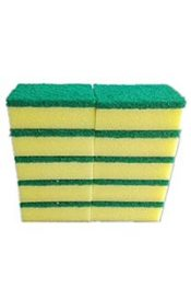 hand scourer green and yellow